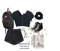 """""""Outfit Inspo"""" by sunsetsandflowers on Polyvore featuring JanSport, Converse and Miss Selfridge"""