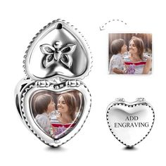 #Soufeel - #Soufeel Heart Gift Box Personalized Engravable Photo Charm - AdoreWe.com