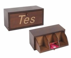 Caja De Te Madera 3 Divisiones Blanca Y Tono Madera Divinas! - $ 299,00 en MercadoLibre Wood Packaging, Sample Box, Decoupage Furniture, Tea Box, Wooden Projects, Day Planners, Vintage Table, Door Design, Design Crafts