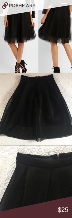 👠 Great Skirt Cute black mesh midi skirt. Like new condition. Can pair with so many pieces, including fun jewelry and even hot red shoes. Charlotte Russe Skirts Midi