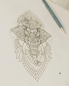 Elephant mehndi tattoo sketch - My list of best tattoo models Elephant Thigh Tattoo, Henna Elephant, Mandala Elephant, Elephant Tattoo Design, Tribal Elephant Tattoos, Elephant Face, Indian Elephant, Trendy Tattoos, Cute Tattoos