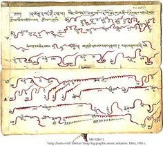 Tibetan Yang-Yin graphic music notations (19th Century)