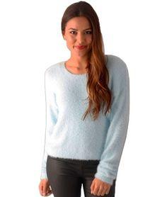 Kitty Fluffy Knit Jumper – Blue | redthread7.com.au
