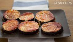 Mini pizzas falsas de berenjena. Receta
