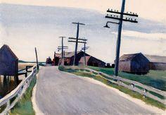 Edward Hopper, Wellfleet Road on ArtStack #edward-hopper #art