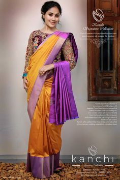 1670706d67521 Kanchipuram saree by kanchi signature collection. To place an order- FB   https