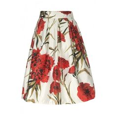 Women's High Waist Print Floral Pleated Skirt Midi Skater Skirt One... (¥2,870) ❤ liked on Polyvore featuring skirts, white skater skirt, high waisted pleated skirt, midi skirt, skater skirt and floral midi skirt