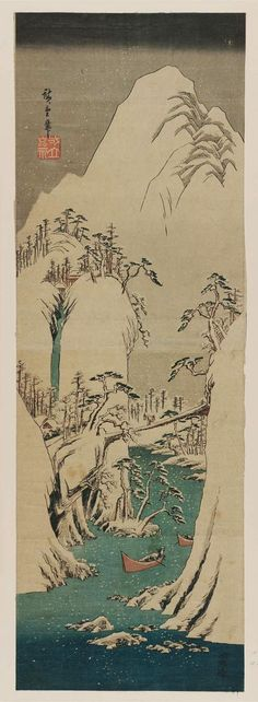 Utagawa Hiroshige Title:Mountain Gorge in Winter