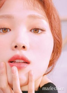 Lee Sung Kyung looks gorgeous in the September issue of Marie Claire, modeling different lip colors from Laneige. Lee Sung Kyung Photoshoot, Lee Sung Kyung Makeup, Lee Sung Kyung Hair, Korean Actresses, Korean Actors, Marie Claire, Eye Makeup, Hair Makeup, Weightlifting Fairy Kim Bok Joo