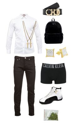A menswear look from September 2017 featuring men's casual shirts, mens slim fit jeans and mens underwear boxer briefs. Browse and shop related looks. Dope Outfits For Guys, Swag Outfits Men, Stylish Mens Outfits, Male Outfits, Tomboy Outfits, Tomboy Fashion, Streetwear Fashion, Guy Fashion, Urban Fashion