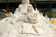 Build a sand sculpture Panama City Beach Restaurants, Panama City Beach Florida, Panama City Panama, Sand Sculptures, Vacation Places, Mount Rushmore, Beach House, Things To Do, Photo Galleries