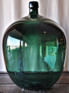Antique French Demijohn bottle, I would love some of these in my house