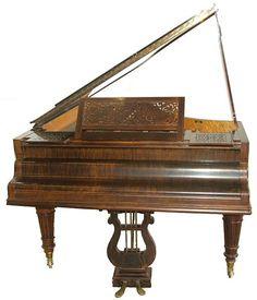 Antique Erard grand piano http://adjustablepianobench.net