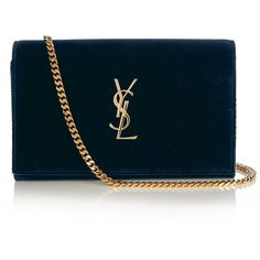 Saint Laurent Monogramme classic velvet cross-body bag ($1,265) ❤ liked on Polyvore featuring bags, handbags, shoulder bags, navy, blue handbags, crossbody shoulder bags, blue cross body purse, yves saint laurent handbags and blue crossbody handbag