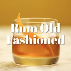 Rum Old Fashioned Cocktail Recipe Rum Old Fashioned, Old Fashioned Recipes, Old Fashioned Cocktail, Ice Cream Drinks, Rum Cream, Types Of Cocktails, Classic Cocktails, Rum Cocktail Recipes, Drink Recipes