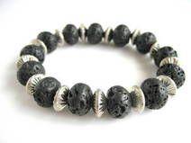 Bracelet  black lava