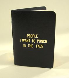 Rude Little Black Book. $9.99, via Etsy. If anyone wants to grab me a quick XMAS gift, I got lots of names for it!