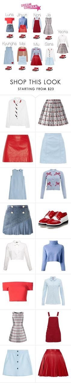 """// dream concert ; intro + heat + open up! //"" by twenty-official ❤ liked on Polyvore featuring Alice + Olivia, Miu Miu, New Look, Valentino, VIVETTA, N°21, The Row, Boohoo, Paul & Joe and Topshop"