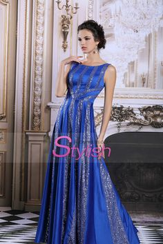 2015 Sophia Style Prom Dress Scoop A-Line Elastic Satin #31191 (Color Just As Picture Show) $309.99 STPBAXF25P - StylishPromDress.com for mobile