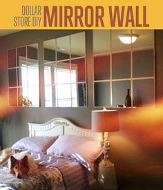DIY Mirror Wall | If you're on  budget, this is the perfect home decor you can make. #DIYReady DIYReady.com