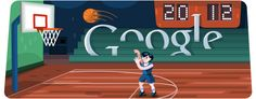 Logo Google : Londres 2012 : Basketball
