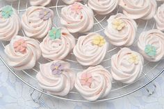 Pink Piccadilly Pastries - Pretty Meringue Rosettes