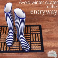 Avoid winter clutter in the entryway   yourmodernfamily.com
