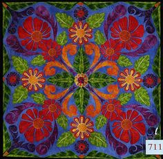 'Variations on Tivaevae' by Rosemary Rush.  1st prize, Pacific Neighbors, 2007 Auckland Patchworkers and Quilters Guild
