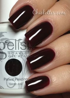Gelish Black Cherry Berry Swatch About time someone showed the swatches on their nails. Thank you!!!