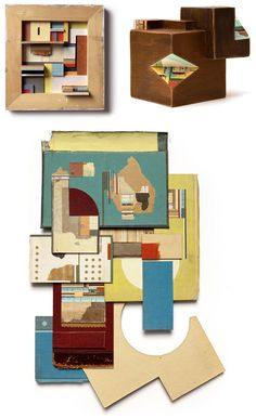 collages in 2 and 3d.
