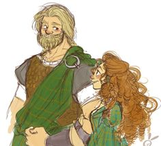 """Brave:Merida and """"Young"""" MacGuffin. Married. Older."""