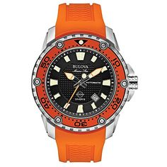 Bulova 98B207 Mens Marine Star  Satellite Orange Watch -- See this great product. (This is an affiliate link and I receive a commission for the sales)