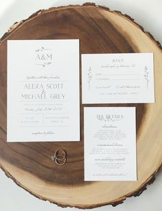 A&M Minimalist Wedding Invitation