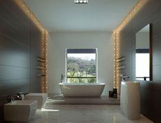 Love the lit edge #luxuryzenbathroom