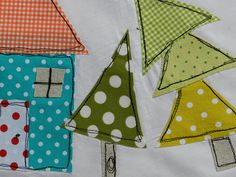 Fun quirky pattern - applique, but it would make a cute quilt block.