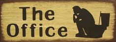 The Office Bathroom Primitive Rustic Country Distressed Wood Sign Home Decor #RusticPrimitiveWestern