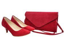 Wygodne buty damskie. Niskie czółenka czerwone. Zamszowy zestaw buty i torebka Roseti Peeps, Peep Toe, Shoes, Fashion, Moda, Zapatos, Shoes Outlet, Fashion Styles, Fasion