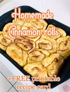 When the weather is rainy and snugly it is perfect for some Cinnamon rolls!  Here is an easy homemade recipe