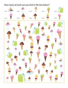 Ice Cream I Spy - Gift of Curiosity Ice Cream Games, Ice Cream Theme, Ice Cream Party, Preschool Games, Activities For Kids, Ice Cream Crafts, I Spy Games, Winter Words, Activity Sheets