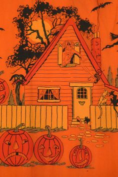 "Halloween ""Trick or Treat"" Party Napkin Vintage Halloween Cards, Retro Halloween, Theme Halloween, Halloween Prints, Halloween Pictures, Holidays Halloween, Spooky Halloween, Halloween Decorations, Happy Halloween"