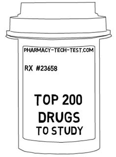 This is the Top 200 drugs list to memorize in preparation for the PTCB or ExCPT.