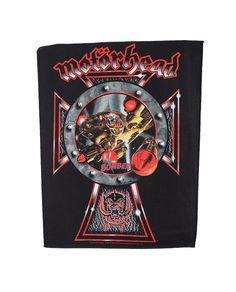 "Motorhead - Bomber Back Patch.  Size: H 35.5cm (14"") x Wide at top 30cm (11.6"")  Free Shipping to anywhere in Australia."