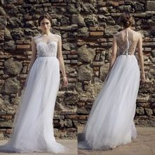 2015 wedding dress sheer sweetheart dress beach backless /vintage wedding dress chiffon Wedding dresses(China (Mainland))