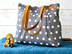POLKA DOT Gray Purse