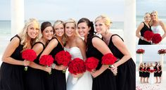 Red, black and white wedding colors