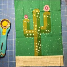 Looking for your next project? You're going to love Abstract Cactus-Paper Pieced Pattern by designer SewingWSqueak.