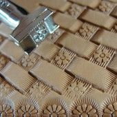 Leather Stamping Tool - Flower Center Basket Weave Stamp