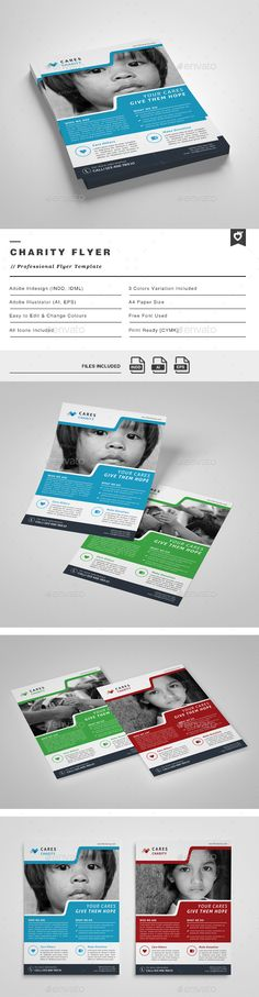 Charity Flyer Template PSD #design #promote Download…