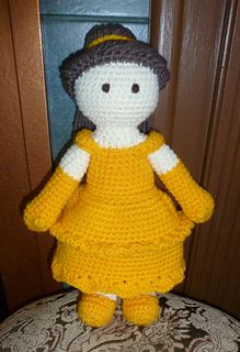 Belle is all dressed up for the ball and ready to party! She is a very good beginner/ advanced beginner pattern with lots of pictures and easy to follow instructions. Enjoy taking her out for a spin around the dance floor!