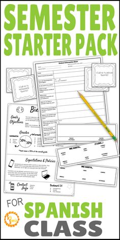 Are you feeling the stress of back to school season! No worries! This quick starter pack will help you jump into a new semester easily. It includes a syllabus template, student information sheet, name tags, and a get to know you activity that will get your students speaking Spanish! Perfect print and go, no-prep needed! Just what you need in your middle school or high school Spanish classroom.